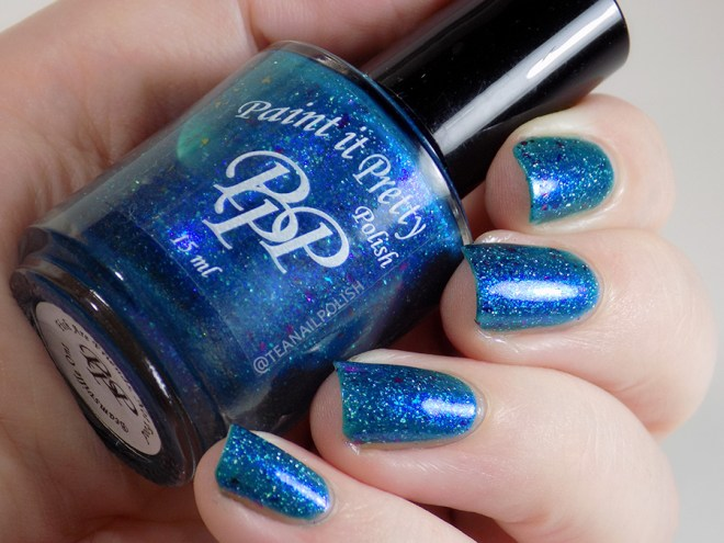 Paint it Pretty Polish Fish are Friends Not Food - Swatch in Artificial Lighting