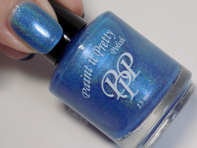 Paint it Pretty Polish Out of The Blue Holo Polish Bottle Thumb Swatch