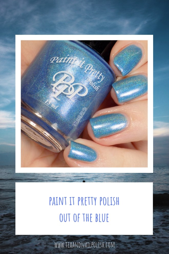 Paint it Pretty Polish Out of the Blue Swatches - Blue Holographic Polish