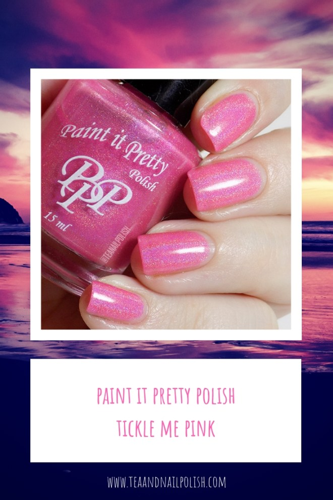 Paint it Pretty Polish Tickle Me Pink Holo Nail Polish Swatches