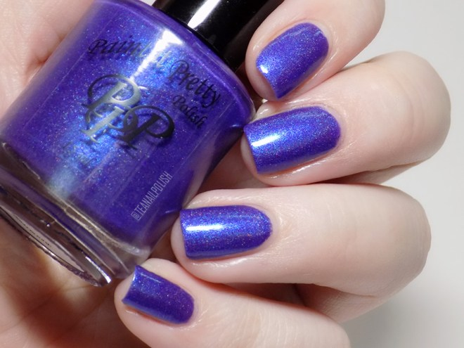 Paint it Pretty Purple Thunder Holo Polish - Swatch in Artificial Light 2