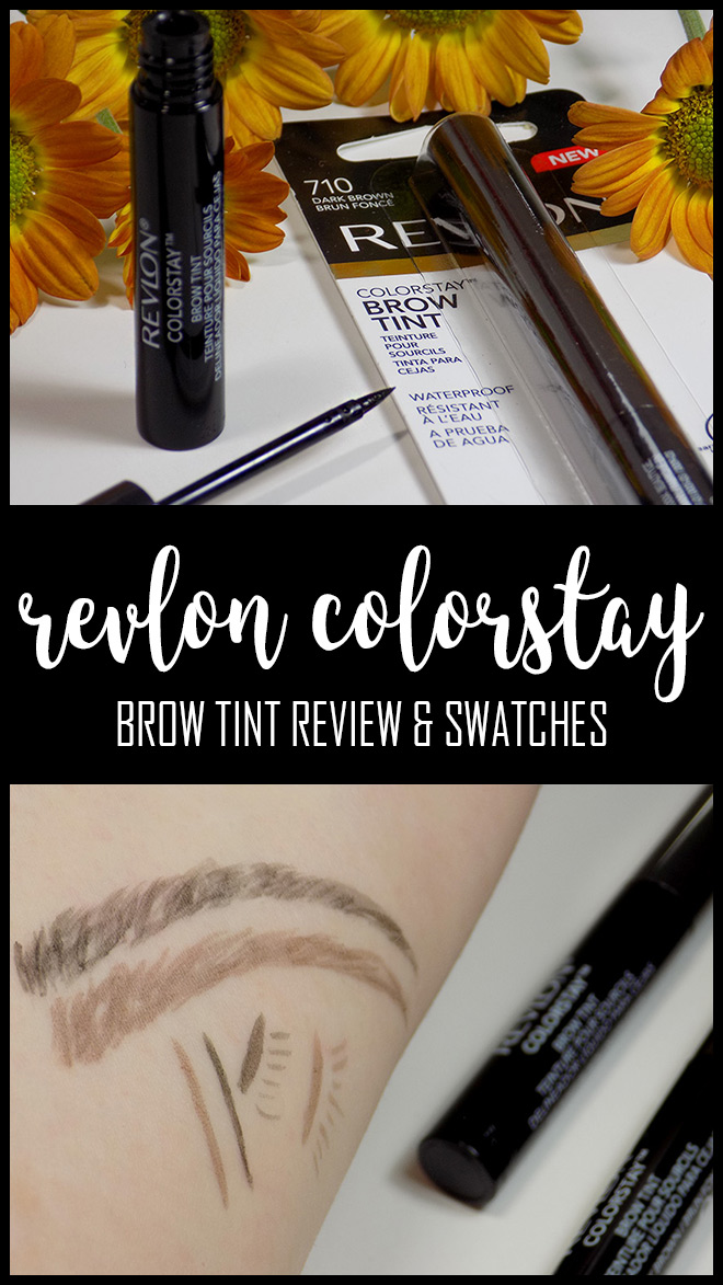 Revlon Colorstay Brow Tint in Soft Black and Dark Brown Review Swatches