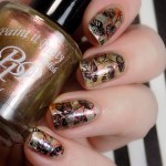 Leaves Smoosh Mani with Paint it Pretty Holiday Metallics Collection