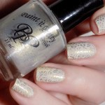 Champagne and Lace Bridal Names CBBxManiMonday Swatch 1