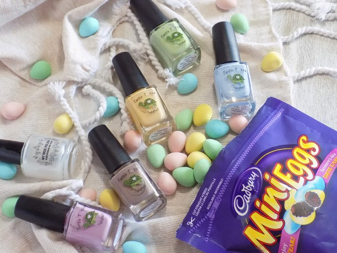 Mini Eggs Nail Art CBBxManiMonday Easter Nail Art - Polishes Used