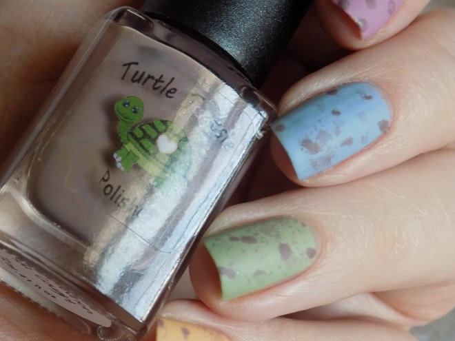 Mini Eggs Nail Art CBBxManiMonday Easter Nail Art - Turtle Tootsie Pet Peeves