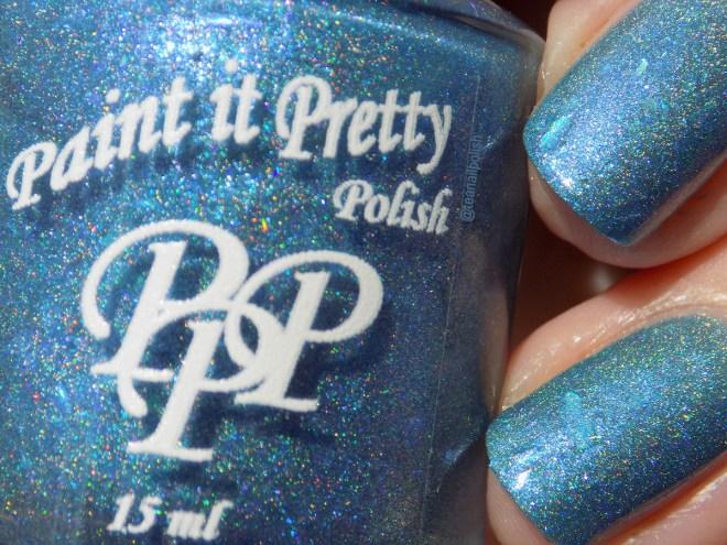 Paint it Pretty IEC Blue Jays Way - closeup swatch sunlight