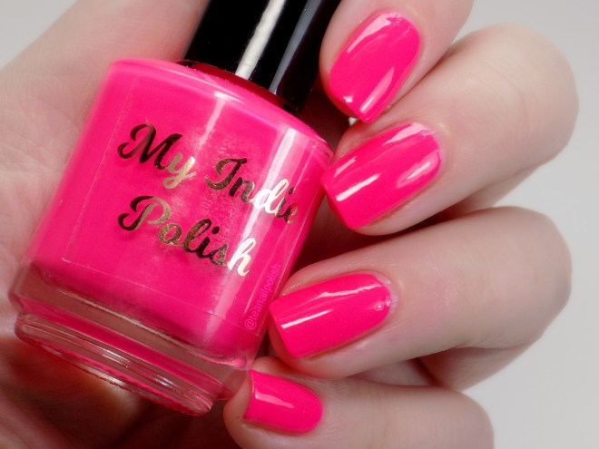 My Indie Polish Neon Pink Swatches