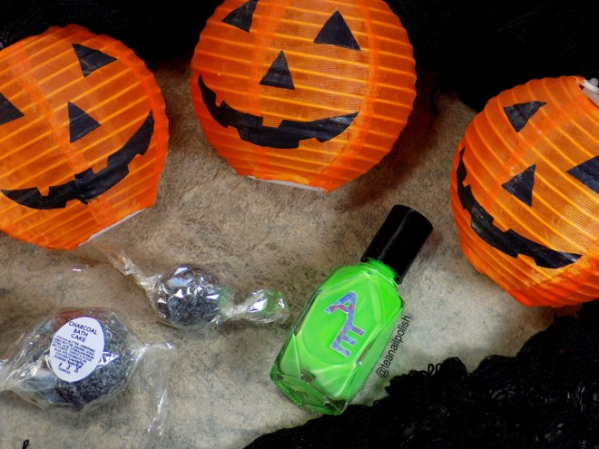 Alter Ego Alterween Glow in the Dark Nail Polish and Storming 51 Bath Bombs - Light