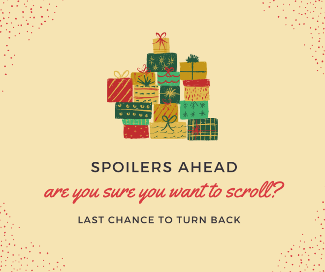 warning of spoilers past this point
