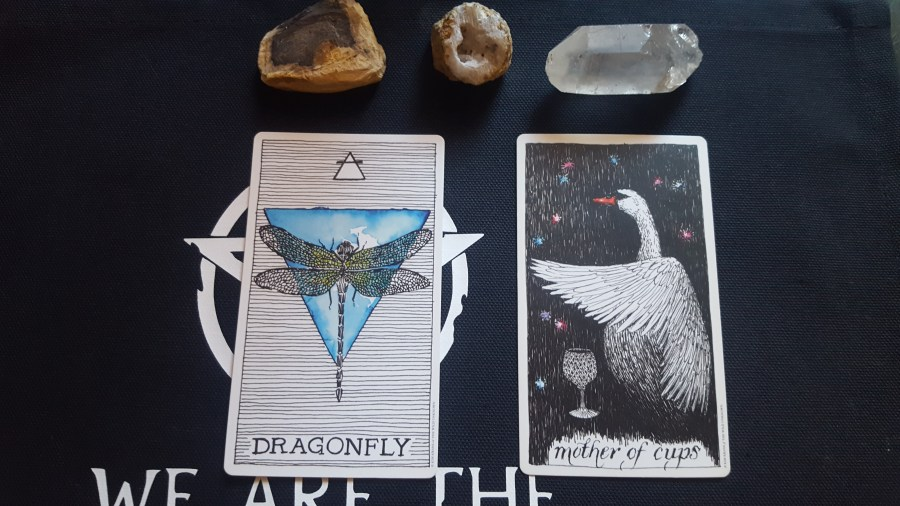 Dragonfly and the Mother of Cups