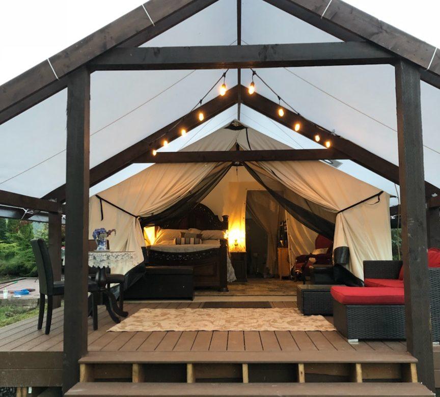 Beautiful High Camp Tent and Platform