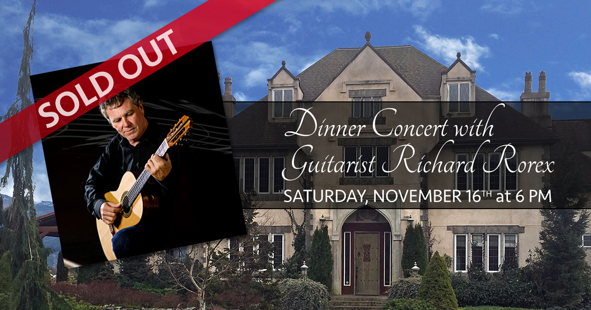 Dinner Concert with Guitarist Richard Rorex SOLD OUT