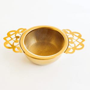 Victorian Tea Infuser Gold