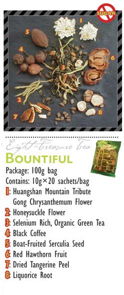 TeaBling.com Featured 8 Treasure Tea - Bountiful Label