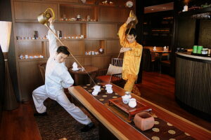 Dragon Asking For Directions, Hidden Tea Serving Posture in China, Babaocha in Restaurants, Eight Treasure Tea, 8 Treasures Tea