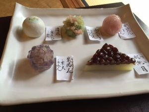 fresh Japanese sweets for tea ceremony Kyoto