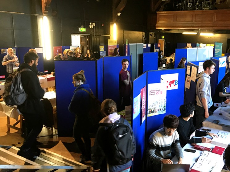 Careers Fair room at Birmingham University