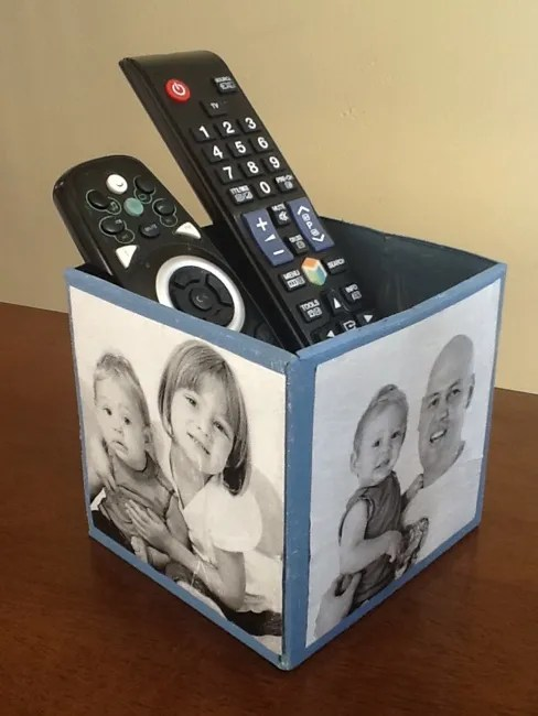 Photo Remote Caddy for Daddy  Teach Me Mommy