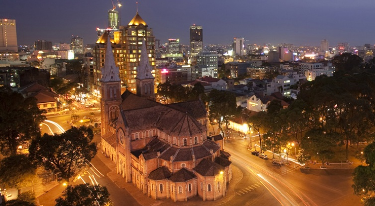Ho Chi Minh city at night