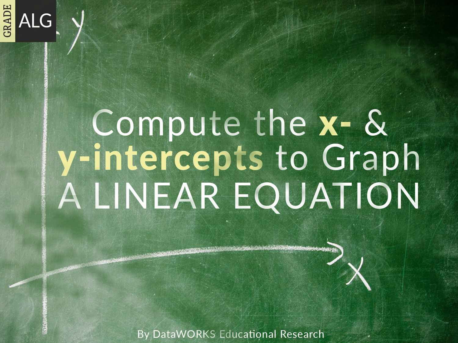 X And Y Intercepts Of A Linear Function
