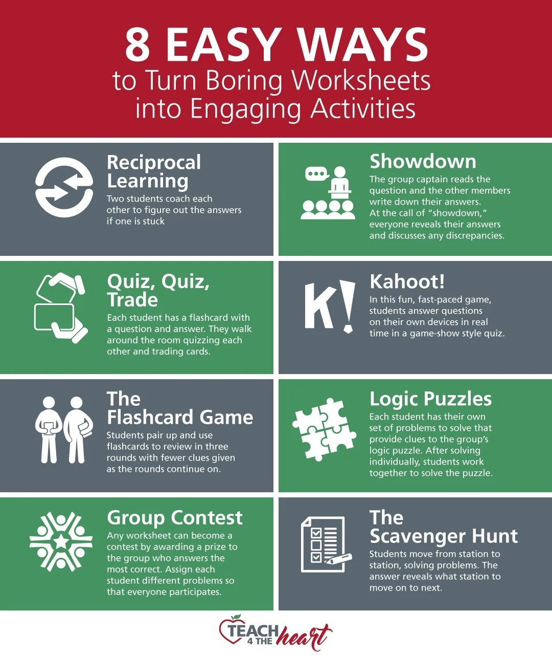 7 Easy Ways To Turn Boring Worksheets Into Engaging Activities