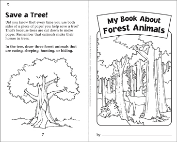 My Book of Forest Animals: Nonfiction Read & Write Booklet