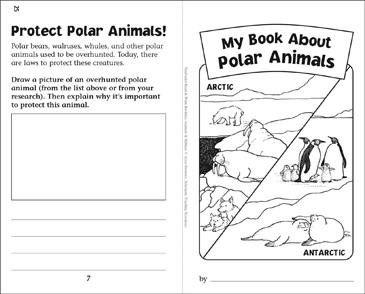 My Book of Polar Animals: Nonfiction Read & Write Booklet