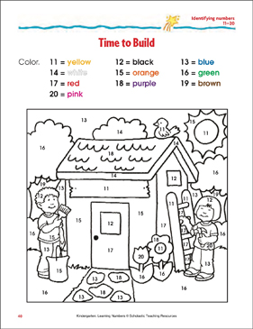 Time to Build (Identifying numbers 11-20) (Color