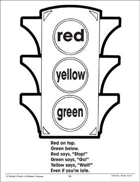 Traffic Light and Color Poem (Using Three Colors