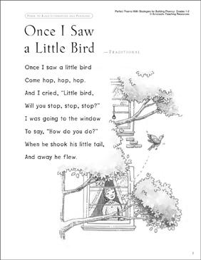 Once I Saw a Little Bird (Fluency-Building Read-Aloud Poem