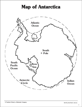 Map of Antarctica  Printable Maps and Skills Sheets