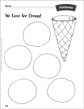 We Love Ice Cream! (cut-and-color patterns): Patterns