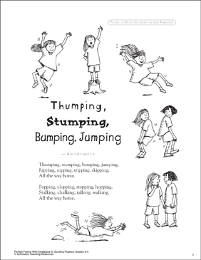 Thumping, Stumping, Running, Jumping: A Poem for Groups
