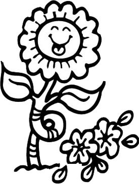 smiling sunflower printable clip