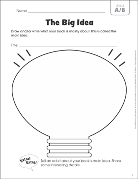 The Big Idea (Leveled-Reading A/B): Guided Reading