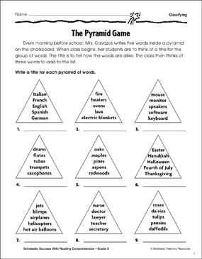 The Pyramid Game Classifying