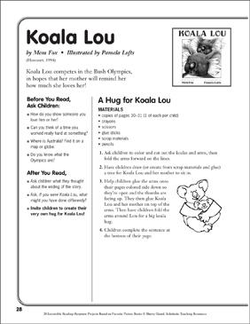 Koala Lou By Mem Fox A Reading Response Project
