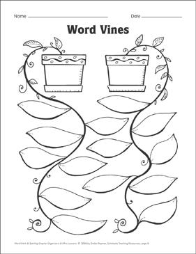 Word Vines (word patterns) Organizer & Mini-Lesson