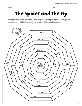 The Spider and the Fly (Multiply Eights and Nines