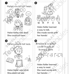 Helen Keller: First Comprehension (Nonfiction)   Printable Skills Sheets [ 1552 x 1225 Pixel ]