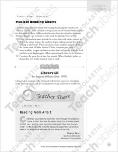 See inside image also musical reading chairs and from  to  chart printable rh teachablesholastic