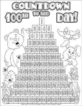 100th day of school coloring pages # 13