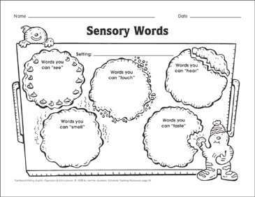 Sensory Words (word choice) Graphic Organizer & Mini