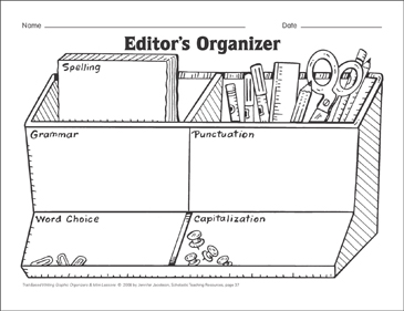 Editor's Organizer (word choice, sentence fluency, and