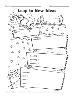 Leap to New Ideas (ideas and organization) Graphic