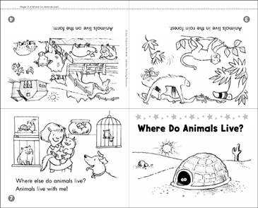 Where Do Animals Live? (Mini-Book & Activities