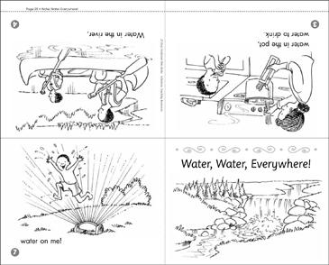 Water, Water, Everywhere! (Mini-Book & Activities