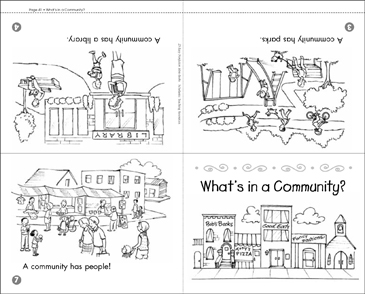 What's In a Community? (Mini-Book & Activities