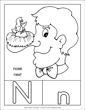 Letter N: Character Page; Letter Page; Sign Language